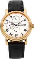 Timepieces:Wristwatch, Waldan International 18k Gold Automatic Calendar With Dial TimeZone & Power Reserve Indication. ...