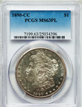 Morgan Dollars: , 1890-CC $1 MS63 Prooflike PCGS. PCGS Population (133/118). NGCCensus: (97/70). Numismedia Wsl. Price for problem free NGC...