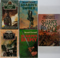 Books:Fiction, Bernard Cornwell. Group of Five First Edition, First PrintingSharpe's Books. Collins, 1981-1989. Near fine or b...(Total: 5 Items)