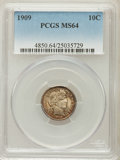 Barber Dimes: , 1909 10C MS64 PCGS. PCGS Population (94/51). NGC Census: (81/36).Mintage: 10,240,650. Numismedia Wsl. Price for problem fr...
