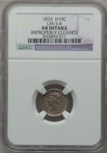Bust Half Dimes, 1833 H10C -- Improperly Releases -- NGC Details. AU. LM-3.4. NGCCensus: (9/482). PCGS Population (31/428). Mintage: 1,370...