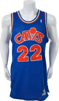 Basketball Collectibles:Uniforms, 1988-89 Larry Nance Game Worn Cleveland Cavaliers Jersey andShorts....