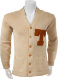 Football Collectibles:Uniforms, 1944-47 Bobby Layne Personally Owned University of Texas Longhorns Letterman's Sweater....