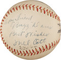 Autographs:Baseballs, 1944 Mel Ott Single Signed Baseball....