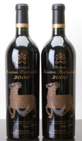 Red Bordeaux, Chateau Mouton Rothschild 2000 . Pauillac. Bottle (2). ... (Total: 2 Btls. )