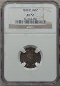 Seated Half Dimes: , 1859-O H10C AU55 NGC. NGC Census: (7/93). PCGS Population (5/75).Mintage: 560,000. Numismedia Wsl. Price for problem free ...