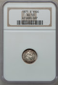 Seated Half Dimes: , 1871-S H10C AU53 NGC. NGC Census: (3/103). PCGS Population (5/129).Mintage: 161,000. Numismedia Wsl. Price for problem fre...