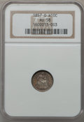Seated Half Dimes: , 1857-O H10C AU58 NGC. NGC Census: (32/134). PCGS Population(27/102). Mintage: 1,380,000. Numismedia Wsl. Price for problem...