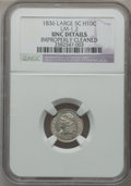 Bust Half Dimes: , 1836 H10C Large 5C -- Improperly Cleaned -- NGC Details. UNC.LM-1.2. NGC Census: (2/241). PCGS Population (6/145). Mintag...
