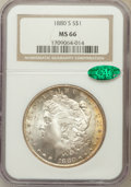 Morgan Dollars: , 1880-S $1 MS66 NGC. CAC. NGC Census: (11061/3345). PCGS Population(9593/2007). Mintage: 8,900,000. Numismedia Wsl. Price f...