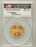 Modern Issues: , 1994-W G$5 World Cup Gold Five Dollar MS69 PCGS. Ex: Signature ofJohn M. Mercanti, 12th Chief Engraver of the U.S. Mint. P...