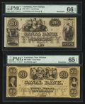 Obsoletes By State:Louisiana, New Orleans, LA - Canal Bank $20 18__ G34a and $20 18__ G36a, Remainders. ... (Total: 2 notes)
