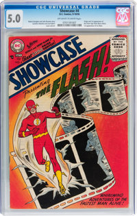 Showcase #4 The Flash (DC, 1956) CGC VG/FN 5.0 Off-white to white pages
