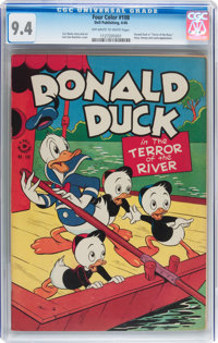 Four Color #108 Donald Duck (Dell, 1946) CGC NM 9.4 Off-white to white pages