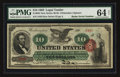 Large Size:Legal Tender Notes, Fr. 95b $10 1863 Legal Tender PMG Choice Uncirculated 64 Net.. ...