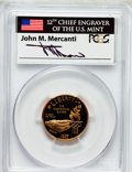 Modern Issues: , 1995-W G$5 Olympic/Stadium Gold Five Dollar PR69 Deep Cameo PCGS.Ex: Signature of John M. Mercanti, 12th Chief Engraver of...
