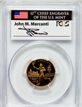 Modern Issues: , 1995-W G$5 Olympic/Torch Runner Gold Five Dollar PR69 Deep CameoPCGS. Ex: Signature of John M. Mercanti, 12th Chief Engrav...