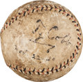 Autographs:Baseballs, 1920 Ty Cobb Single Signed Baseball (Traced Signature)....