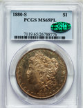 Morgan Dollars: , 1880-S $1 MS65 Prooflike PCGS. CAC. PCGS Population (2475/786). NGCCensus: (1969/858). Numismedia Wsl. Price for problem ...