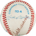 Autographs:Baseballs, 1980's 500 Home Run Club Signed Baseball....