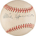 Autographs:Baseballs, 1950's Tris Speaker Single Signed Baseball....