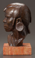 American, RICHMOND BARTHE (American, 1901-1989). Maasai Warrior, 1986.Bronze with brown patina. 6-1/2 inches (16.5 cm) high. Ed. ...