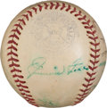 Baseball Collectibles:Balls, 1939 Baseball Greats Multi Signed Baseball With Foxx, Cronin &Rookie Ted Williams. ...