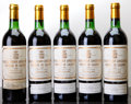 Red Bordeaux, Chateau Pichon Lalande 1982 . Pauillac. 3ts, 1bsl. Bottle(5). ... (Total: 5 Btls. )