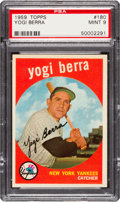 Baseball Cards:Singles (1950-1959), 1959 Topps Yogi Berra #180 PSA Mint 9 - Only One Higher. ...