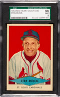 Baseball Cards:Singles (1950-1959), 1954 Red Heart Stan Musial SGC 96 Mint 9 - Pop Two, Highest!...
