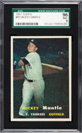 Baseball Cards:Singles (1950-1959), 1957 Topps Mickey Mantle #95 SGC 96 Mint 9 - Pop Three, NoneHigher! ...