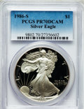 Modern Bullion Coins: , 1986-S $1 Silver Eagle PR70 Deep Cameo PCGS. PCGS Population (678).NGC Census: (1133). Mintage: 1,446,778. Numismedia Wsl....