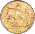 Commemorative Gold, 1915-S $2 1/2 Panama-Pacific Quarter Eagle MS67 PCGS....