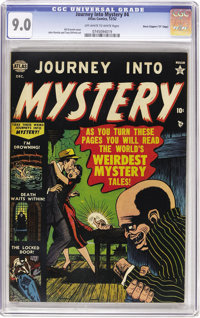 """Journey Into Mystery #4 Davis Crippen (""""D"""" Copy) pedigree (Marvel, 1952) CGC VF/NM 9.0 Off-white to white page..."""