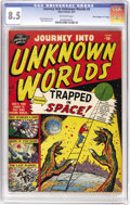 """Golden Age (1938-1955):Science Fiction, Journey Into Unknown Worlds #5 Davis Crippen (""""D"""" Copy) pedigree(Atlas, 1951) CGC VF+ 8.5 Off-white pages. Bright, colorful..."""