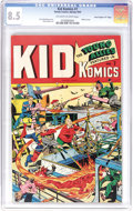 """Golden Age (1938-1955):Superhero, Kid Komics #7 Davis Crippen (""""D"""" Copy) pedigree (Timely, 1945) CGC VF+ 8.5 Off-white to white pages. We hadn't seen any copy..."""