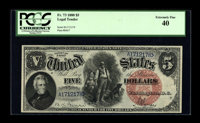 Fr. 73 $5 1880 Legal Tender PCGS Extremely Fine 40