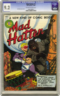 Golden Age (1938-1955):Superhero, Mad Hatter #1 (O.W. Comics, 1946) CGC NM- 9.2 Off-white to white pages. One single copy at NM 9.4 edges this copy as the hig...