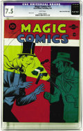 Golden Age (1938-1955):Adventure, Magic Comics #14 Mile High pedigree (David McKay Publications, 1940) CGC VF- 7.5 White pages. Mandrake the Magician gave thi...