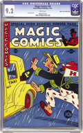 Golden Age (1938-1955):Miscellaneous, Magic Comics #29 Mile High pedigree (David McKay Publications, 1941) CGC NM- 9.2 White pages. This cover's a great period pi...