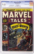 "Golden Age (1938-1955):Horror, Marvel Tales #106 Davis Crippen (""D"" Copy) pedigree (Atlas, 1952)CGC VF/NM 9.0 Off-white pages. This issue features a Russ ..."