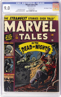 """Marvel Tales #106 Davis Crippen (""""D"""" Copy) pedigree (Atlas, 1952) CGC VF/NM 9.0 Off-white pages. This issue fe..."""