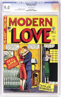 Modern Love #1 (EC, 1949) CGC VF/NM 9.0 Off-white pages. This was the first romance issue EC ever published, and only tw...