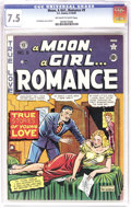 Golden Age (1938-1955):Romance, A Moon, A Girl... Romance #9 (EC, 1949) CGC VF- 7.5 Off-white towhite pages. This is by far the nicest copy we've ever offe...