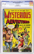 "Golden Age (1938-1955):Horror, Mysterious Adventures #1 Davis Crippen (""D"" Copy) pedigree (StoryComics, 1951) CGC VF- 7.5 Off-white pages. Walter Johnson ..."