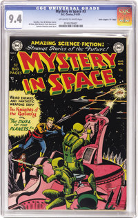 """Mystery in Space #3 Davis Crippen (""""D"""" Copy) pedigree (DC, 1951) CGC NM 9.4 Off-white to white pages. Simply s..."""