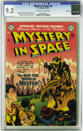 Golden Age (1938-1955):Science Fiction, Mystery in Space #6 Bethlehem pedigree (DC, 1952) CGC NM- 9.2Off-white to white pages. Apocalyptic covers were hot back in ...