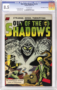 """Out Of The Shadows #5 (#1) Davis Crippen (""""D"""" Copy) pedigree (Standard, 1952) CGC VF+ 8.5 Off-white pages. The..."""
