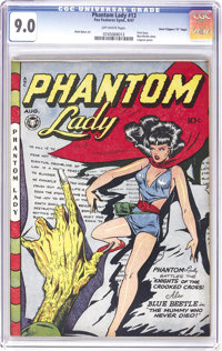 "Phantom Lady #13 Davis Crippen (""D"" Copy) pedigree (Fox Features Syndicate, 1947) CGC VF/NM 9.0 Off-white page..."