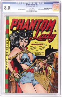 """Phantom Lady #17 Davis Crippen (""""D"""" Copy) pedigree (Fox Features Syndicate, 1948) CGC VF 8.0 Pink pages. This..."""